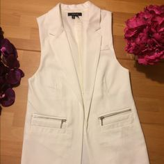 Sleeveless Blazer Paper tee sleeveless blazer. Brand new! Jackets & Coats Blazers