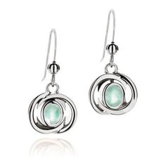 La Diosa Jewellery Sea Blue Chalcedony & Sterling Silver Honey-Moon E ($204) ❤ liked on Polyvore featuring jewelry, earrings, accessories, schmuck, sterling silver jewellery, sterling silver jewelry, sterling silver earrings, blue chalcedony earrings and earrings jewelry
