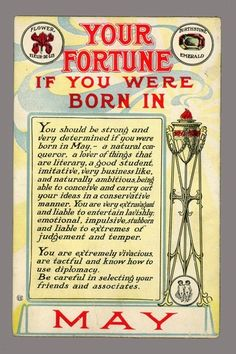 Your Fortune ... If born in May [1910]