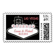 Las Vegas Welcome Sign Postage Stamps