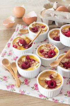 Recette sans gluten : Petites crèmes aux framboises