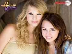 Taylor Swift and Miley Cyrus old photo