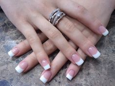OPI pink & white nails.  Thanks Dianne for your talents!