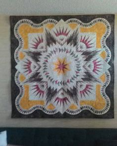 Glacier Star, designed by Quiltworx.com, made by Judy Gowron.  Won Viewers Choice at Springfield Fair in Dugald Manitoba Canada