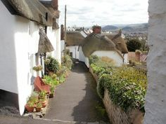 Thatched cottages, Church Steps, Minehead, Somerset ~ photo by John Grayson Somerset England, Living In England, South Devon, Exeter, British History, Cottages, Countryside, Cities, Beautiful Places