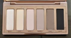 Urban Decay's Naked Basics Palette -  smooth mattes.