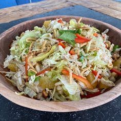 Asian Ginger Dressing, Ginger Asian, Chicken And Cabbage, Napa Cabbage, Crispy Chow Mein Noodles, Kitchen Recipes, Cooking Recipes, The Kitchen Food Network, Cabbage Salad Recipes
