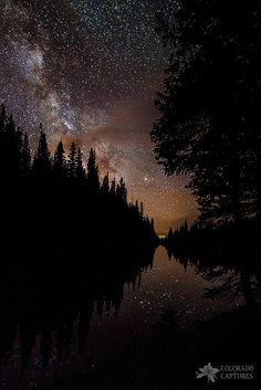 Silhouette Curves In The Starry Night by Mike Berenson - Colorado Captures on Beautiful World, Beautiful Images, Beautiful Things, Night Photography, Nature Photography, Landscape Photography, Images Esthétiques, Photo Libre, All Nature