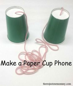 How to make a paper cup phone -- fun kids science experiment!