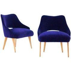 Pair of Italian Easy Chairs, 1950s