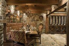 Wine cellar man cave idea