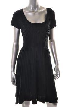 Madison Leigh Black Casual Dress BHFO Sale M $35.60