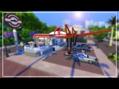 Sims 4 Speed Build | Retro Gas Station - YouTube Sims 4 Build, Gas Station, Make It Yourself, Retro, Building, Youtube, Neo Traditional, Buildings, Rustic