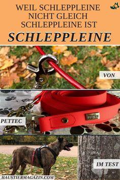 """Weil Schleppleine nicht Schleppleine ist... wir haben die PetTec Leine für dich auf Herz und """"Abperleffekt""""getestet.   #leine #schleppleine #hund #hundesport #hundetraining #hundeleine #htm Big Dogs, Dog Leash, Dog Accessories, Pooch Workout, Hang In There, Heart, Products"""