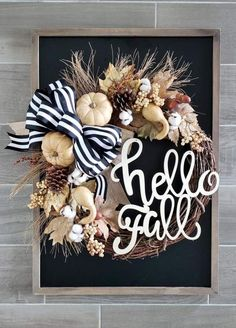 Dekoration Hortensien Creative Fall Wreath Ideas For Front Door Decoration 19 Front Door Decor, Wreaths For Front Door, Door Wreaths, Grapevine Wreath, Tulle Wreath, Burlap Wreaths, Diy Fall Wreath, Autumn Wreaths, Holiday Wreaths
