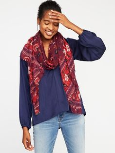 Lightweight Printed Scarf for Women
