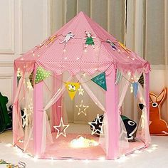 Girls Tent Play Tents u0026 Tunnels Kids Children Toys Princess Castle Games House & Luxury Townhouse Giant Play Tent PlayHut http://www.amazon.com/dp ...