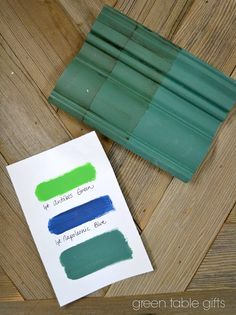 Chalk Paint® mix of Antibes Green & Napoleonic Blue with clear wax, tinted wax, and dark wax.