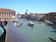 Shot of the Grand Canal, Venice.