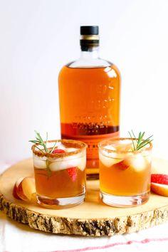 Cinnamon Bourbon Apple Cider Winter Cocktail Recipe made with Bulliet Bourbon Winter Cocktails, Thanksgiving Cocktails, Bourbon Cocktails, Holiday Drinks, Cocktail Recipes, Bourbon Drinks Winter, Apple Cocktails, Drink Recipes, Bourbon Apple Cider