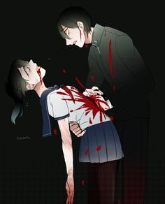 *Senpai sees Yan-chan smiling in the corner* (Senpai) You. *heart starts to beat fast* (Senpai) you were the one who killed her. (Yan-chan) *eyes widen* (Senpai) *stabs Yan-chan in the chest* Male Yandere, Yandere Girl, Yandere Anime, Manga Anime, Anime Art, Yandere Games, Ayano X Budo, Yandere Simulator Characters, Geeks