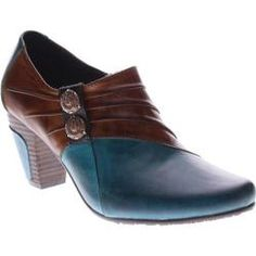 32f68188ac7 Women s L Artiste by Spring Step Joella Turquoise Medium Brown Leather -  Overstock™