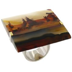 AARON FABER - Dendritic Agate Landscape Ring