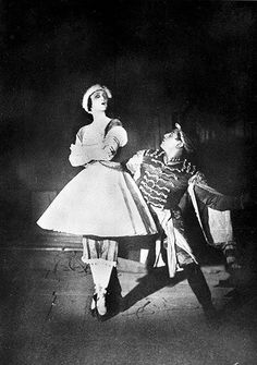 Serge Lifar and Tamara Karsavina of the Ballet Russes in a publicity image for the ballet Petrouchka at the Paris opera, 1929. Music by Igor Stravinsky, choreography by Michel Fokine. Photograph:  The Rest is Noise: Paris 1910-1930 - in pictures