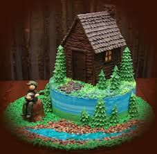 Queque de cabaña / Log cabin cake