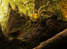 dragon, bird, art, nature, forest