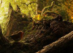 dragon, bird, art, nature, forest