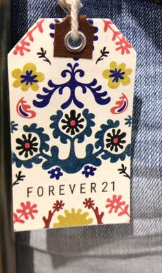 Forever 21 #hangtag