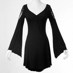 PUNK RAVE Robe Gothique Black Butterfly - PQ022 - Boutique Gothique Romantique Gothyka