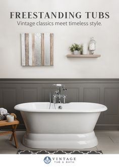 Shop the best selection of freestanding tubs! Bathroom Renos, Bathroom Makeover, Free Standing Tub, Master Bedroom Bathroom, Bathrooms Remodel, Bathroom Design, Bathroom Decor, Bathroom Renovation, Bathroom Redo