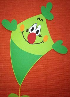 Drachen grün   Herbst - Motiv als Fensterbild