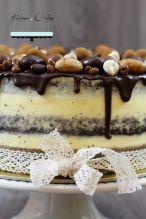 Maková torta s čokoládovou polevou Markova, Tiramisu, Food And Drink, Low Carb, Pudding, Keto, Breakfast, Ethnic Recipes, Desserts