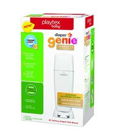 Amazon.com : Playtex Diaper Genie Complete Diaper Pail with Odor Lock Technology, White : Baby