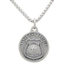 "St Michael Pendant Necklace ""Patron Saint of Police Officers"""