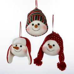 12-fabric-snowman-head-wearing-a-knit-winter-hat-christmas-ornaments-7.jpg (600×600)