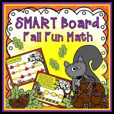 Smart Board Fall Fun Math:  Perfect for fall theme math!  Lots of Fun!