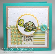 Snappy Stampin' w/ Arielle: TURTLEY AWESOME / ISSC #19...