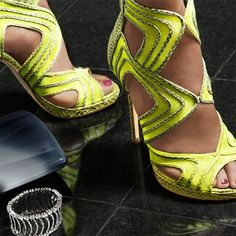 Jimmy Choo. YELLOW!