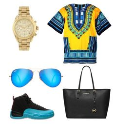 """I'm just being modest imma be the  topic they talk about forever"" by kodak-miyaaaa ❤ liked on Polyvore featuring Michael Kors, Ray-Ban and MICHAEL Michael Kors"