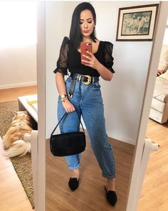 Casual Chic Outfits, Trendy Outfits, Cute Outfits, Fashion Outfits, Womens Fashion, Mode Cool, Mode Jeans, Elegant Outfit, Look Fashion