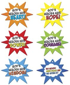 Vacation Bible School 2017 VBS Hero Central Hero Code Mobiles (Pkg of 6)