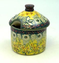 Honey Container (Sunshine Grotto) High-Quality Polish Stoneware from the largest supplier in the western United States - The Polish Pottery Outlet in Englewood, CO
