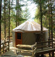 Luxury camping in yurts at Riverside Resort, Whistler. Yurt Camping, Camping Places, Camping World, Glamping, Camping Spots, Camping Stuff, Camping Ideas, Luxury Yurt, Luxury Camping