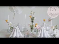 How to set a table for a formal dinner party by Søstrene Grene - YouTube