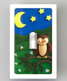 Loving this Safe Touch Solutions Night Owl Naturally Bacteria-Resistant Light Switch Cover on #zulily! #zulilyfinds