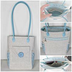 FREE Handbag Sewing ePattern!   The Bia Bag - by a fabulous Maria Wallin #sewing #freepdfpattern